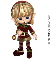 Cute Toon Christmas Elf