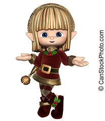 Cute Happy Toon Christmas Elf