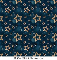 noturna, estrelas, seamless, Padrão, 2,
