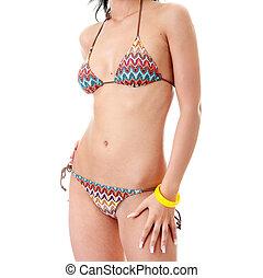 Beautiful body in bikini - Sexy young womans body in bikini...