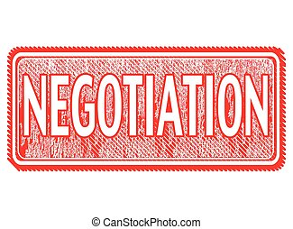 negotiation - grunge stamp with text negotiation on vector...