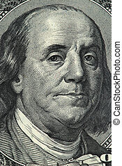 Franklin portrait from a twenty dollar banknote