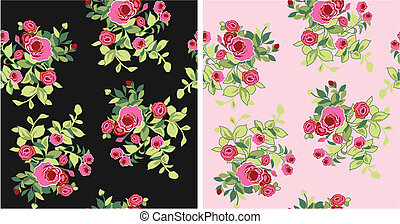 seamless fancy flower pattern