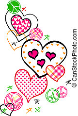 Fancy Heart And Peace Logo