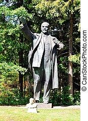 Lenine, en, el, Grutas, parque, cerca, Druskininkai, ciudad,...