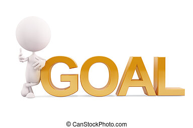 White character with goal