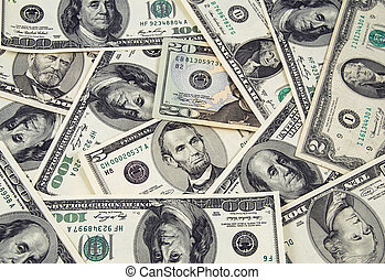 US money - Banknotes of United States of America - dollars -...