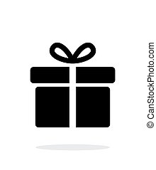 Big gift box icons on white background. Vector illustration....