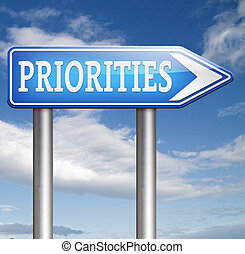 priorities sign important very high urgency info highest...