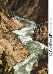 yellowstone river - rapids on the river inYellowstone...