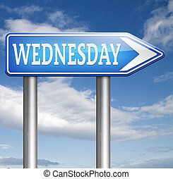 Wednesday - wednesday next day schedule concept for...