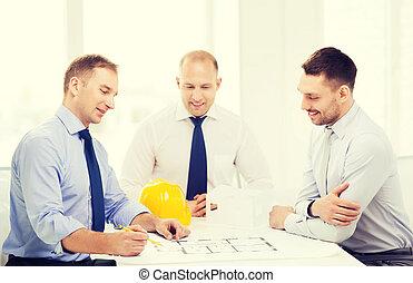 feliz, Diseñadores, Arquitectos, oficina, equipo