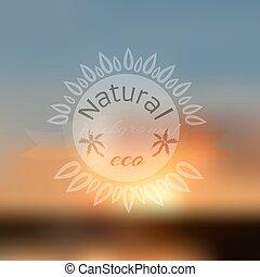 Natural background blur - Vector illustration of Natural...
