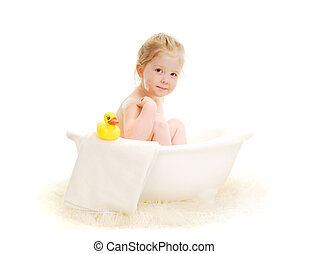 Bath Time - Bath time for young child in tub