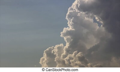 Cumulus in sun lights - Cumulus transforming at altitude in...