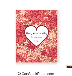 Happy Valentine's Day Greeting card. Love background.