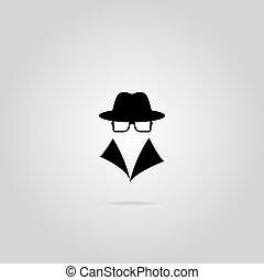 Spy icon. Vector