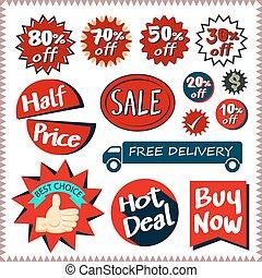 Sale tags banners vector set design concept - Sale tags...