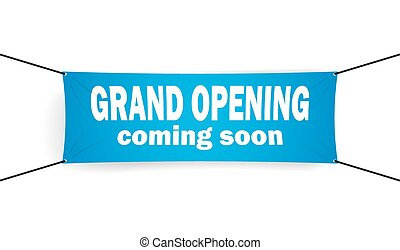 Grand opening banner vector illustration