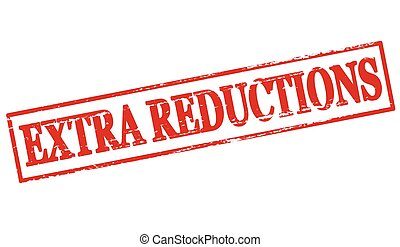 Extra reductions - Rubber stamp with text extra reductions...