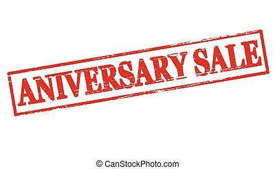 Aniversary sale - Rubber stamp with text aniversary sale...