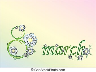 March 8 - inscription March 8 camomile