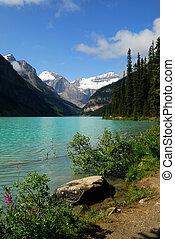 Lake Louise - Beautiful Lake Louise in Banff National Park,...