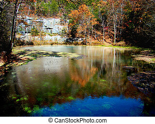 Calm Springs - The deep spring at Alley Springs in Missouri