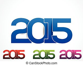 colorful happy new year 2015 text background illustration