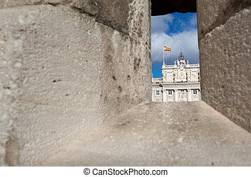 Madrid - Royal Palace. Palacio de Oriente, Madrid landmark, Spain.