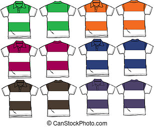 men and boy polo outline