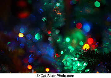 Christmassy little lights - defocused colorful Christmassy...