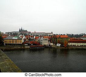 Vltava river, Prague, Czech Rep.