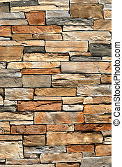 Stone Wall Background - An irregular assortment of stone...