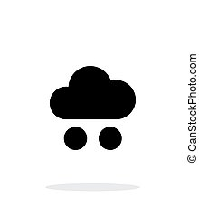 Hail weather icon on white background. Vector illustration.