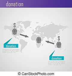 Infographic donation illustration for web or print design...