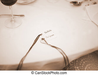 Wedding Table nametag Bride and Groom names - Wedding Table...