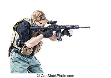 Private military contractor PMC - Studio shot of private...