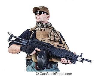 Private military contractor PMC - Studio shot of private...