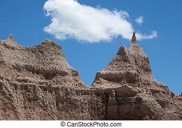 Rock Formation - A rock formation at The Badlands National...