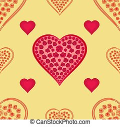 Valentines day texture hearts
