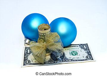 feriado, regalo, Dar, concepto, dinero,