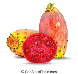 prickly pear - fig prickly pear isolated on white