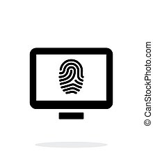 Desktop fingerprint icon on white background.