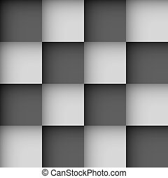 Seamless black and white checks wallpaper pattern with...
