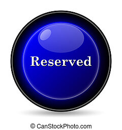 Reserved icon Internet button on white background