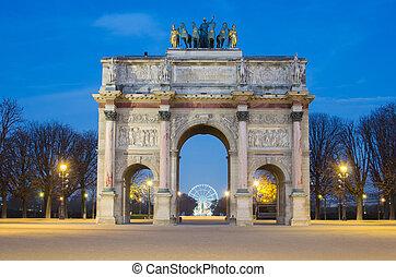 rc de Triomphe du Carrousel (Paris) - Paris (France). Arc de...