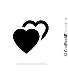 Two hearts icon on white background Vector illustration