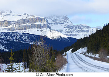 canada mountain in winter