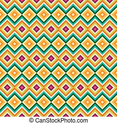 Ethnic tribal zig zag and rhombus seamless pattern Vector...